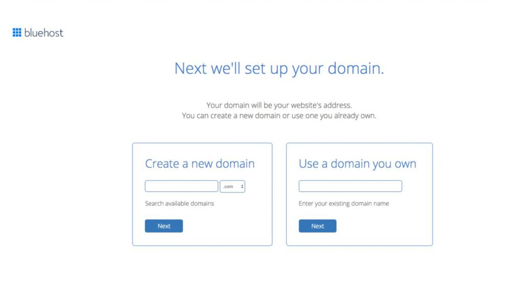set up domain with Bluehost