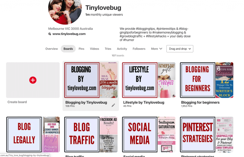 Think ahead when naming Pinterest boards