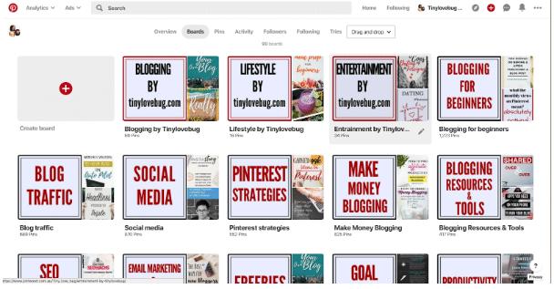 Pinterest board covers