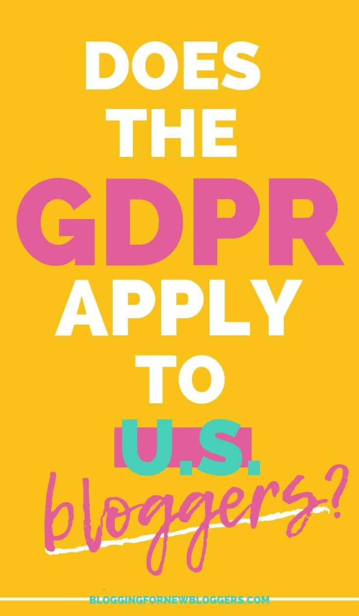 Does the GDPR Apply to Bloggers?