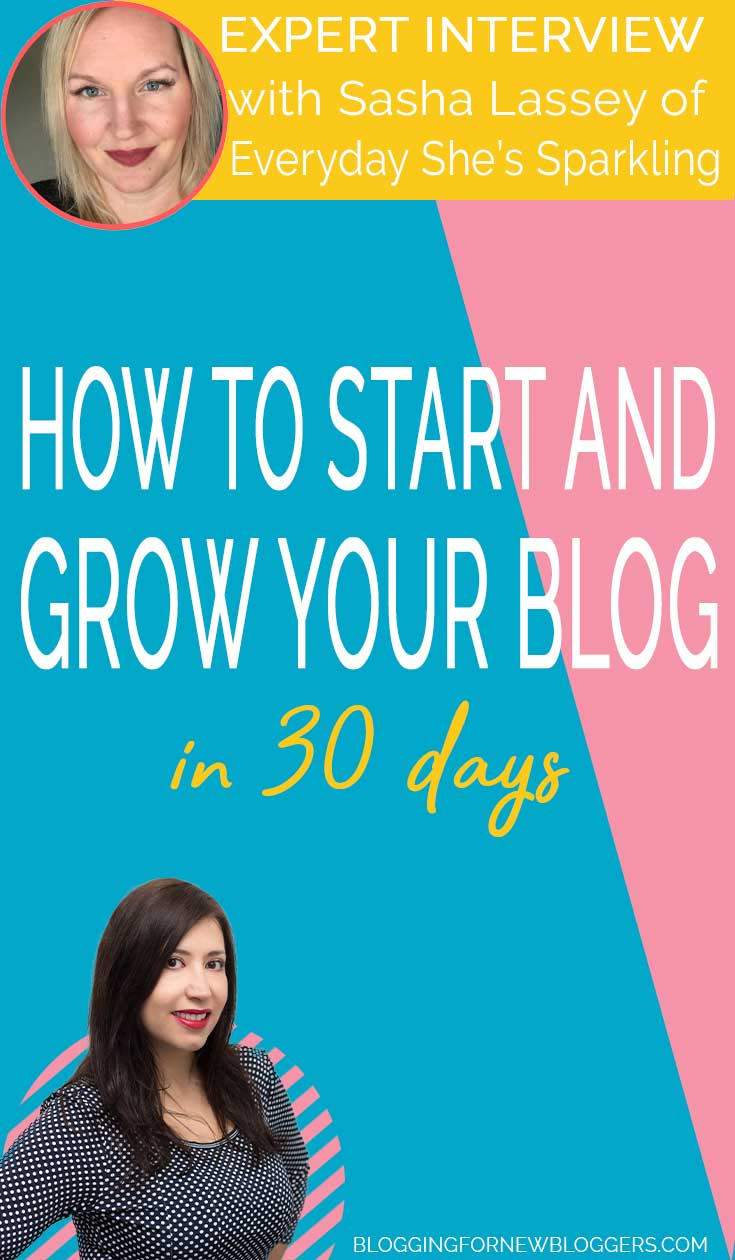 How to start and grow your blog in 30 days. In this interview, Lucrezia talks with Sasha from Everyday She's Sparkling about how to start and grow your blog in 2019. Sasha will provide you with tips on how to start a blog for beginners and how to grow your blog fast. Is this a good time to start a blog? Find out in this interview. #bloggingforbeginners #growblog