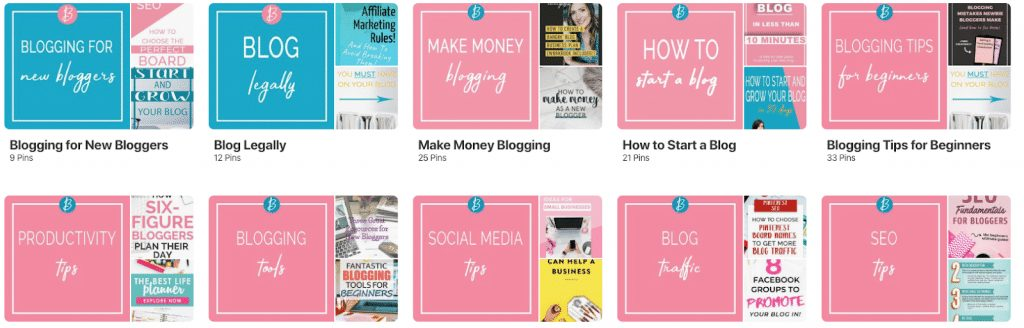 create Pinterest board covers