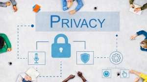 Privacy icons and privacy over-text for CCPA compliance for bloggers