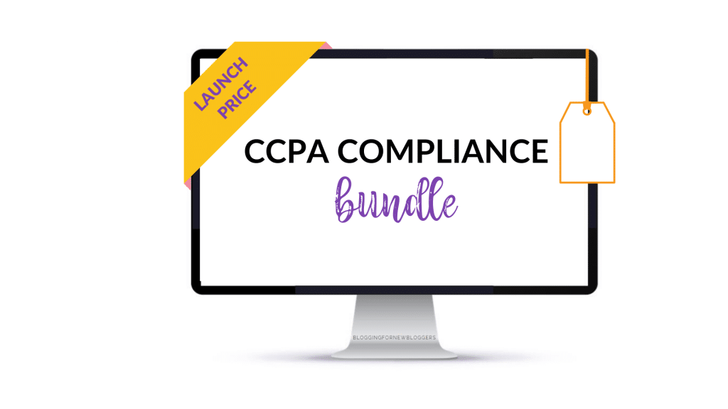 Computer with overlay text CCPA compliance bundle