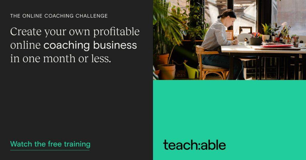 Teachable Coaching Masterclass banner